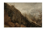 St Gothard and Mont Blanc Sketchbook [Finberg LXXV]  Chamonix: Mont Blanc and the Arve Valley