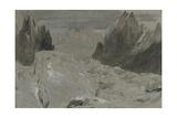 St Gothard and Mont Blanc Sketchbook [Finberg LXXV]  the Mer De Glace
