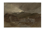 St Gothard and Mont Blanc Sketchbook [Finberg LXXV]  Les Contamines  Dawn