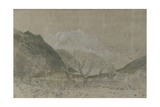 St Gothard and Mont Blanc Sketchbook [Finberg LXXV]  Mont Blanc  from Sallanches