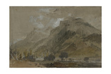 St Gothard and Mont Blanc Sketchbook [Finberg LXXV]  Near Bonneville  Looking Towards Mont Blanc