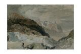 St Gothard and Mont Blanc Sketchbook [Finberg LXXV]  Blair's Hut on the Montenvers