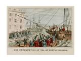 Destruction of Tea in Boston Harbor