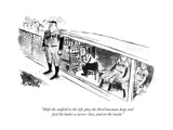 """""""Shift the outeld to the left  play the third baseman deep  and feed the …"""" - New Yorker Cartoon"""