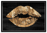 Solid Gold Kiss Framed Art - Ebony