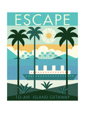 Vintage Travel Island Escape