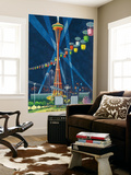 Space Needle Worlds Fair Poster - Seattle  WA
