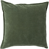 Cotton Velvet Poly Fill Pillow - Emerald