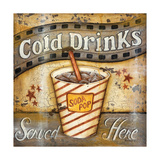 Cold Drinks Reproduction d'art par Kim Lewis