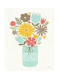 Jar of Sunshine II Coral Peace Reproduction d'art par Michael Mullan