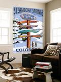 Steamboat Springs  Colorado - Ski Run Signpost
