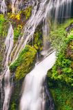 Panther Creek Falls Detail  Columbia River Gorge  Washington