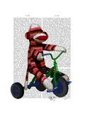 Sock Monkey on Tricycle