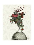 Strawberry Deer Reproduction d'art par Fab Funky