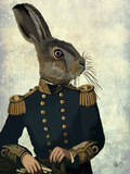 Lieutenant Hare Reproduction d'art par Fab Funky