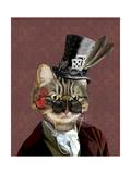 Phileas Feline Steampunk Cat Reproduction d'art par Fab Funky