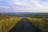 A Paved Road Cuts Through the Remote Sandhills of Nebraska