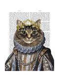 Reine des chats Reproduction d'art par Fab Funky