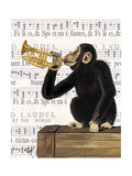 Monkey Playing Trumpet Reproduction d'art par Fab Funky