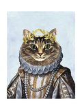Reine des chats Reproduction d'art par Fab Funky