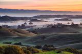 Beautiful Morning Hills and Fog Petaluma Sonoma California