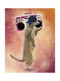 Meerkat and Boom Box Reproduction d'art par Fab Funky