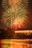Fireworks on the 4th of July Above the Kennedy Center
