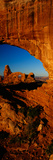 Turret Arch Through North Window  Arches National Park  Utah