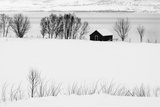 A Lone House in a Snowy Winter Landscape