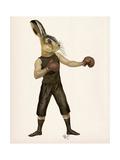 Boxing Hare Reproduction d'art par Fab Funky