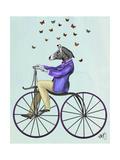 Zebra on Bicycle Reproduction d'art par Fab Funky