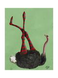 Ostrich Striped Leggings Reproduction d'art par Fab Funky