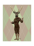 Fencing Deer Full Reproduction d'art par Fab Funky