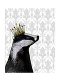 Badger King Reproduction d'art par Fab Funky