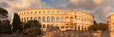 Roman Amphitheater at Sunset  Pula  Istria  Croatia