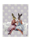 Rabbit Chat Reproduction d'art par Fab Funky