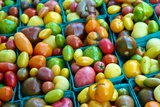 Colorful Heirloom Tomatoes at a Farmers' Market