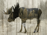 Camouflage Animals - Moose Giclée par Tania Bello