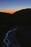 Mercury  Venus  and Crescent Moon Align in Morning Twilight over a Creek in the Great Salt Desert