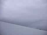 Hikers Climbing an Ice Field Near Palmer Station  on the Antarctic Peninsula