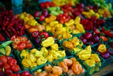 Colorful Peppers for Sale at a Farmers' Market