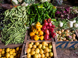 Vegetables for Sale in Souk  Marrakesh  Morocco