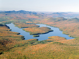 Lake Placid in Autumn  Adirondack  New York