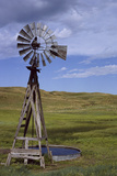 Windmill and Cattle Tank on the Prairie