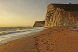Cliffs Near Durdle Door at Sunset  Looking Towards Weymouth