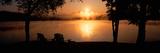 Sun Rising over Lake Placid  New York