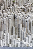 The Basalt Columns and Black Sand of Reynisfjara Beach  on the Southern Coast of Iceland