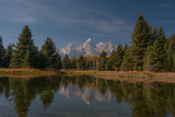 The Tetons Reflected in a Still Lake at Schwabachers Landing