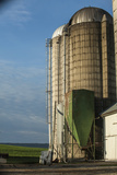Farm's Grain Silo Beside Pennsylvania Route 23 Near Churchtown  Pennsylvania