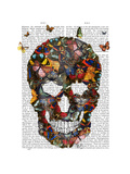 Butterfly Skull Reproduction d'art par Fab Funky
